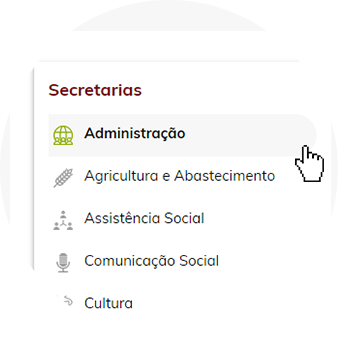 Selecione a secretaria