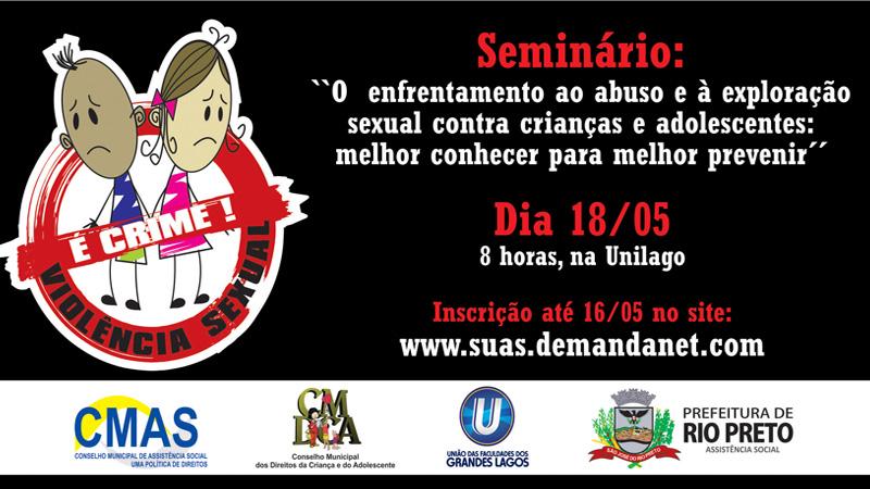Seminário de Combate a violência contra menores