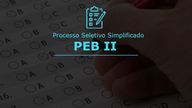 Processo seletivo simplificado PEB 2